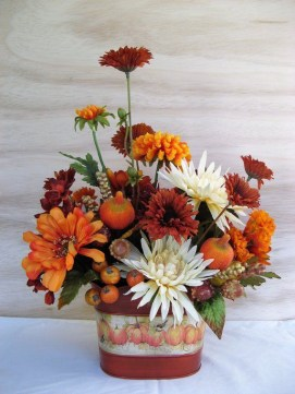 Brilliant Faux Flower Fall Arrangements Ideas For Indoors37