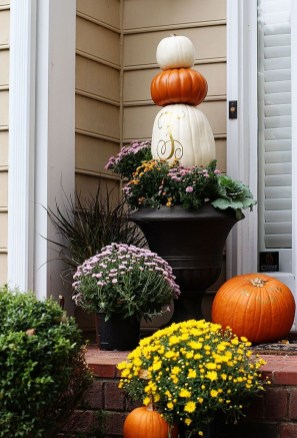 Excellent Diy Fall Pumpkin Topiary Ideas For Home Décor14
