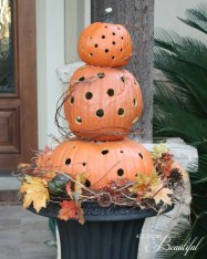 Excellent Diy Fall Pumpkin Topiary Ideas For Home Décor16