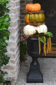 Excellent Diy Fall Pumpkin Topiary Ideas For Home Décor19