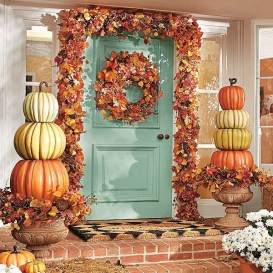 Excellent Diy Fall Pumpkin Topiary Ideas For Home Décor27