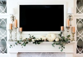 Wonderful Fireplace Makeover Ideas For Fall Home Décor06