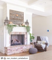 Wonderful Fireplace Makeover Ideas For Fall Home Décor15