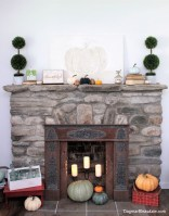 Wonderful Fireplace Makeover Ideas For Fall Home Décor25