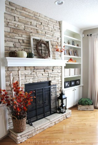 Wonderful Fireplace Makeover Ideas For Fall Home Décor36