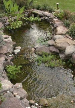 Casual Backyard Ponds Design Ideas For Garden To Try Asap26