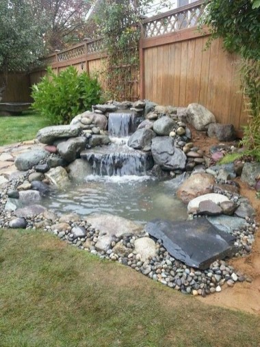 Casual Backyard Ponds Design Ideas For Garden To Try Asap47