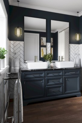 Fascinating Farmhouse Master Bathroom Remodel Ideas To Have Now17
