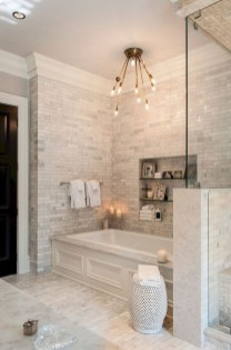 Fascinating Farmhouse Master Bathroom Remodel Ideas To Have Now20