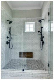 Fascinating Farmhouse Master Bathroom Remodel Ideas To Have Now41