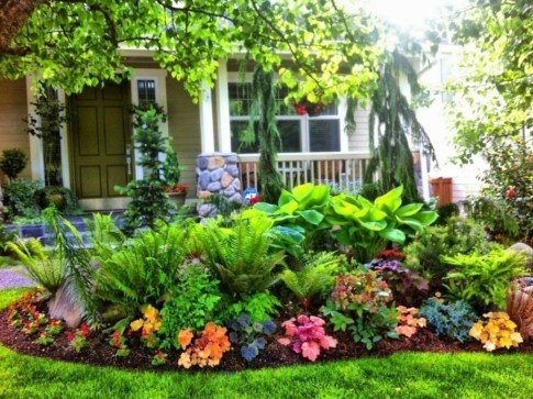 Modern Shade Front Yard Design Ideas For Summer05