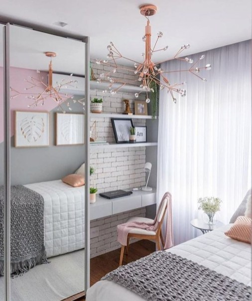 Modern Small Bedroom Design Ideas That Are Look Stylishly Space Saving29