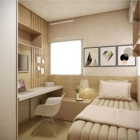 Modern Small Bedroom Design Ideas That Are Look Stylishly Space Saving35