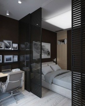 Modern Small Bedroom Design Ideas That Are Look Stylishly Space Saving39