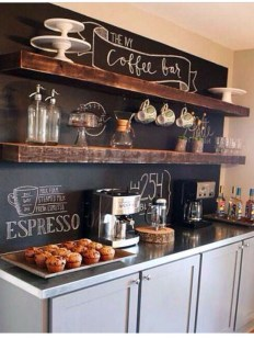 Best Home Coffee Bar Design Ideas You Must Have In Your House12