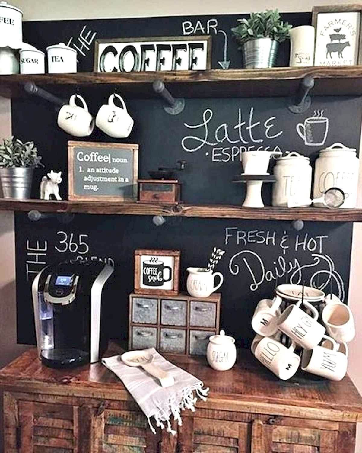 Best Home Coffee Bar Design Ideas You Must Have In Your House35