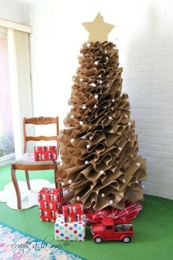 Trendy Diy Christmas Trees Design Ideas That Using Simple Free Materials33