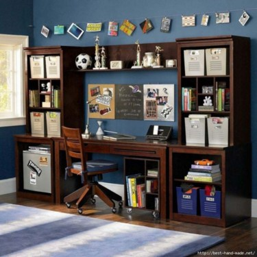 Attractive Study Room Designs And Decorative Ideas For Your Sons Little Surprise16