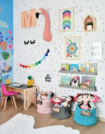 Awesome Kids Bedroom Wall Decorations Ideas That Will Make Fun Your Kids Room13