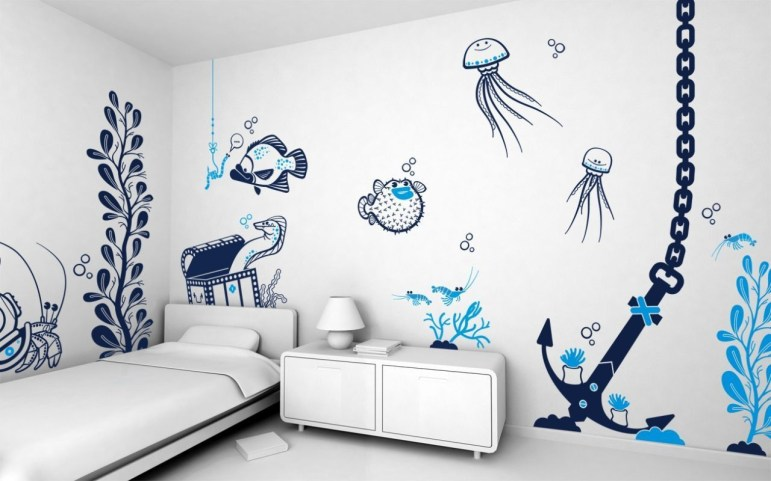 Awesome Kids Bedroom Wall Decorations Ideas That Will Make Fun Your Kids Room22