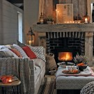 Awesome Winter Home Decoration Design Ideas With Unique Fireplace01