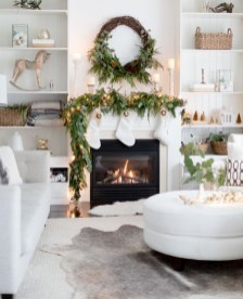 Awesome Winter Home Decoration Design Ideas With Unique Fireplace02