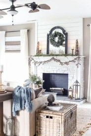 Awesome Winter Home Decoration Design Ideas With Unique Fireplace05