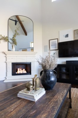 Awesome Winter Home Decoration Design Ideas With Unique Fireplace15