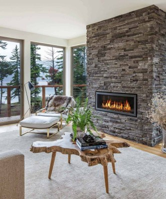 Awesome Winter Home Decoration Design Ideas With Unique Fireplace18