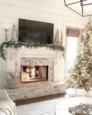 Awesome Winter Home Decoration Design Ideas With Unique Fireplace19