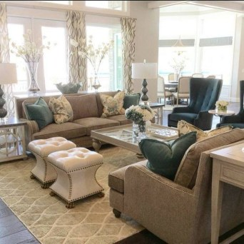 Impressive Family Room Designs Ideas That Looks So Cute26