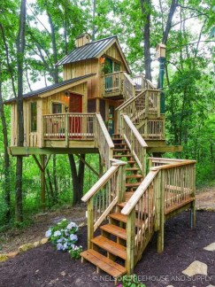 Rustic Diy Tree Houses Design Ideas For Your Kids And Family15