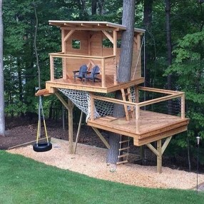 Rustic Diy Tree Houses Design Ideas For Your Kids And Family40
