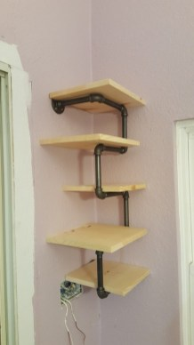Stunning Diy Pipe Shelves Design Ideas That Looks Awesome26