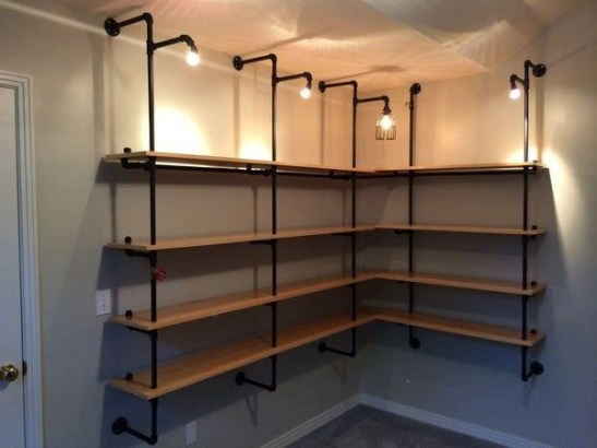Stunning Diy Pipe Shelves Design Ideas That Looks Awesome31