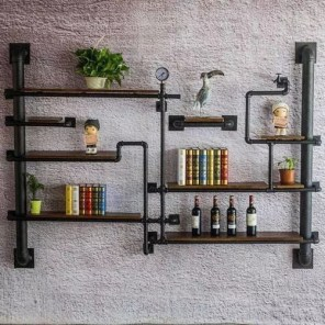 Stunning Diy Pipe Shelves Design Ideas That Looks Awesome35