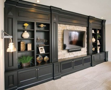 Unordinary Entertainment Centers Design Ideas You Must Try In Your Home14