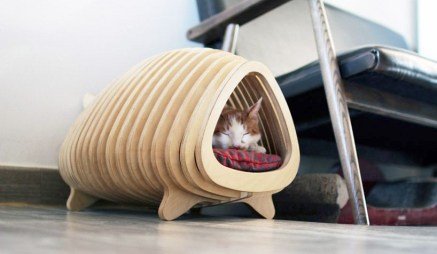 Captivating Plywood Dog House Design Ideas With Fishbone To Insoire You02