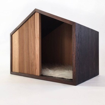 Captivating Plywood Dog House Design Ideas With Fishbone To Insoire You10