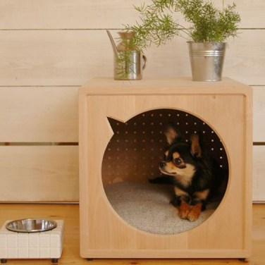 Captivating Plywood Dog House Design Ideas With Fishbone To Insoire You26