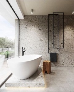 Casual Master Bathrooms Design Ideas That Connected To Nature32
