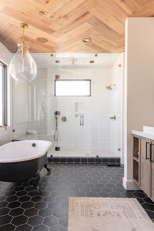 Casual Master Bathrooms Design Ideas That Connected To Nature36