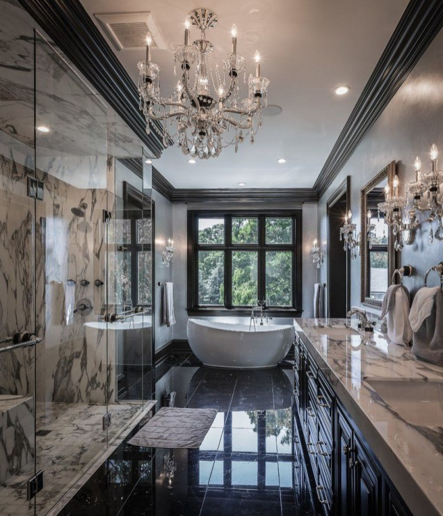 Casual Master Bathrooms Design Ideas That Connected To Nature37