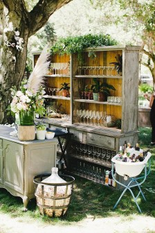 Chic Outdoor Wedding Drink Station And Bar Ideas For Winter To Try Asap01