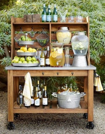 Chic Outdoor Wedding Drink Station And Bar Ideas For Winter To Try Asap12