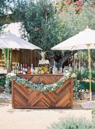 Chic Outdoor Wedding Drink Station And Bar Ideas For Winter To Try Asap15