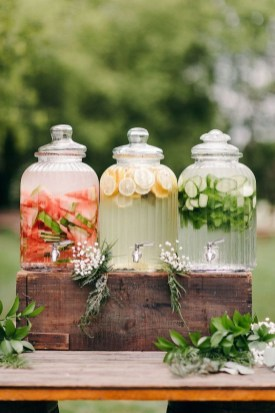 Chic Outdoor Wedding Drink Station And Bar Ideas For Winter To Try Asap16