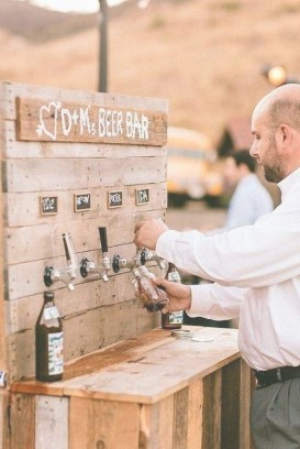 Chic Outdoor Wedding Drink Station And Bar Ideas For Winter To Try Asap36