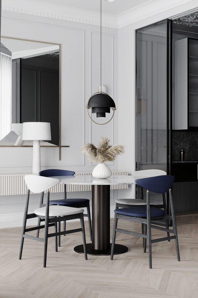 Fancy Round Dining Table Design Ideas That Looks So Awesome38