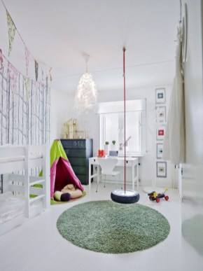 Luxury Indoor Swing Design Ideas For Kids Space To Have Right Now35